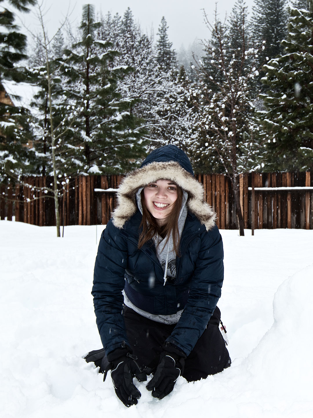 Editorial Snow Portrait